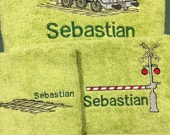 TRAIN 3 piece towel set