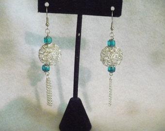 Silver swirl fantasy earrings