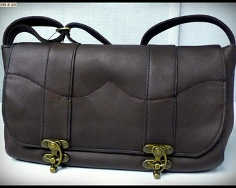 Idily chocolate leather bag