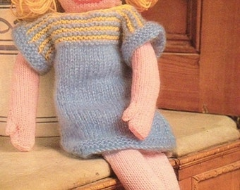 Floppy Flora Doll Knitting Pattern
