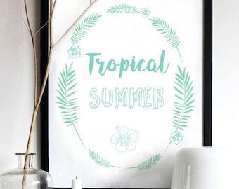 Tropical summer + frame