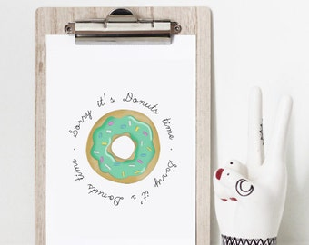 """Table drawing Donut """"Sorry it"""