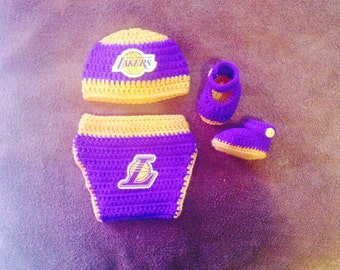 Crochet LA Lakers inspired outfit