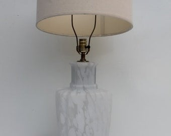 Bauer Murano Glass Table Lamp.