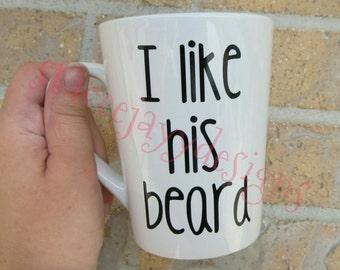 I like his beard, I like her butt, mugs, couple mugs