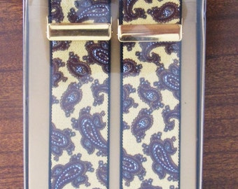 Fantastic Vintage Paisley Braces - Unused in Original Box