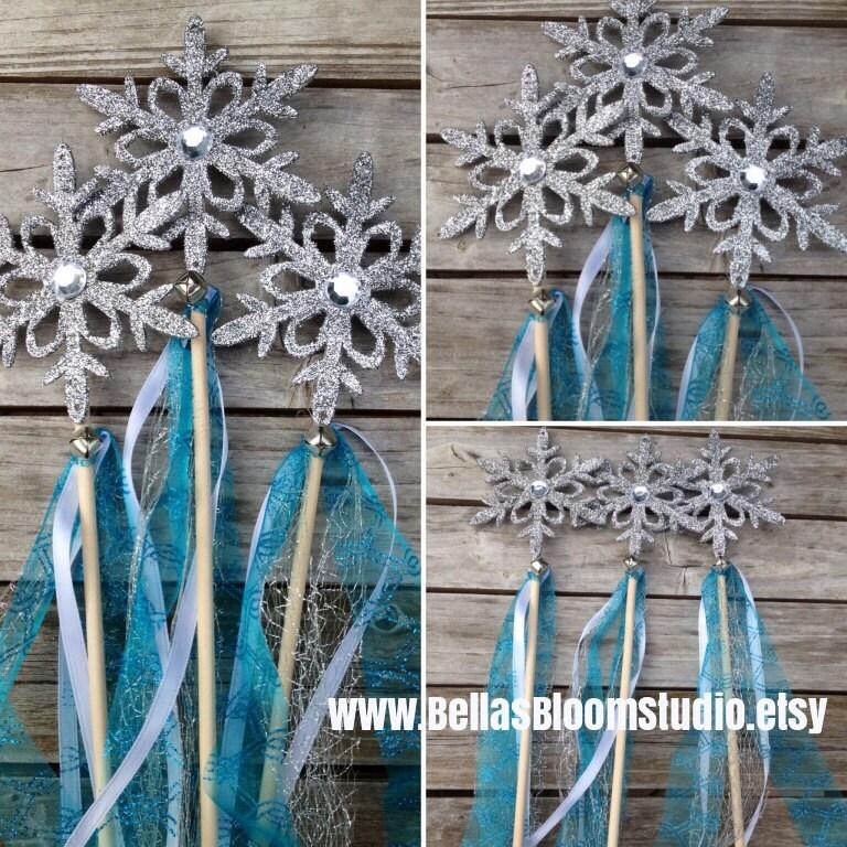 Frozen Wands Frozen Favors Snowflake Wands Frozen