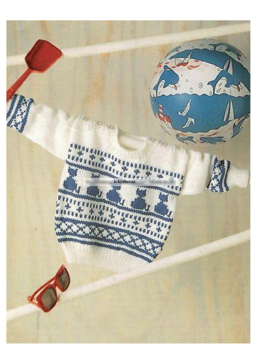 Instant PDF Download Vintage Chart Knitting Pattern Baby