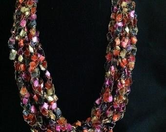 Vegas Crochet Scarf Necklace