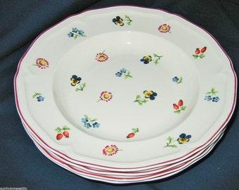 Villeroy Boch - Petit Fleur - Rim Soups (Set of 4)