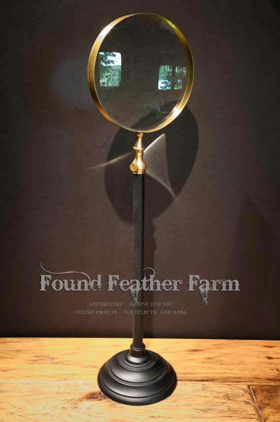 Large Vintage Telescoping Magnifying Glass