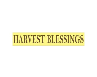 Fall Stencil - HARVEST BLESSINGS - 4 x 22 Stencil - Make your own fall sign!
