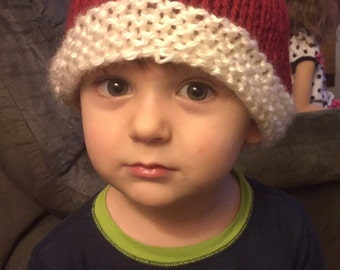 Knit Pixie Style Santa Hat Toddler Size, Other sizes available
