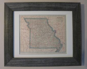 Antique Missouri Map Framed