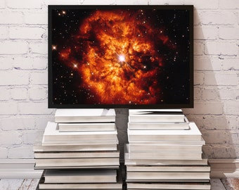 Nebula poster Star decor Space print