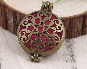 Unique Heart Jewelry Aromatherapy Diffuser Pendant Locket Charm Jewelry For Women Romantic Gift Essential Oil Diffuser Pendant For Her