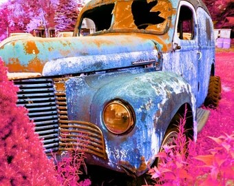 Original Print (matte or glossy) of Vintage Pyschedelic Car