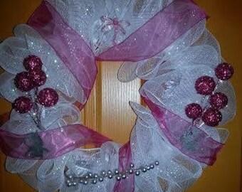 Wreath w Fairies & Dragonfly