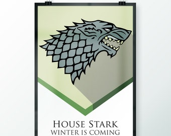 Game of Thrones - House Stark Banner Print 2 Versions