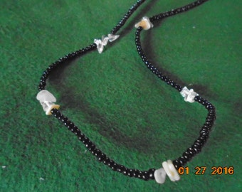 Black and Crystal Bead Necklace