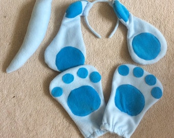 Blues clues ears, tail and hands, Halloween costume, kids costumes, adult costu,e