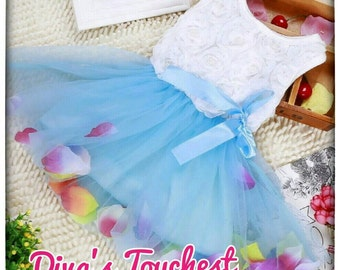 Party Dress 6/12M-Blue Tutu Dress-Purple Tutu Dress-Summer Sleeveless Dress-Baby Girl Dress-Toddler Party 1st Birthday-Flower Girl-Easter