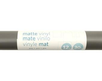 """Silhouette Gray Matte Premium Indoor Outdoor Vinyl 12"""" x 6ft"""