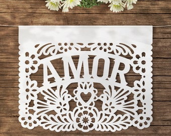 Amor Papel Picado (3 Banners) AMOR flags