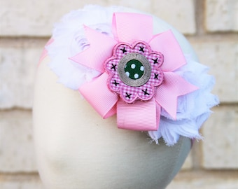 Pretty Pink Headband- Handmade Baby and Kids Headbands