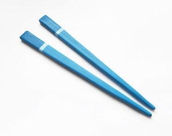 Wooden Hair Sticks, hair pin, blue, wood, hair stick