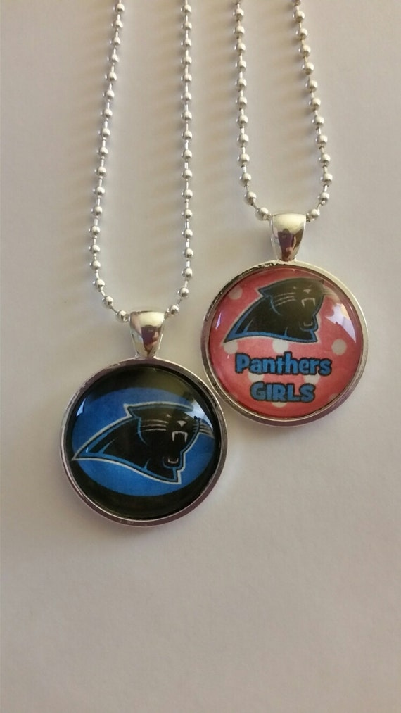 carolina panther jewelry carolina panthers necklace nfl team by brumbleberryboutique 8975