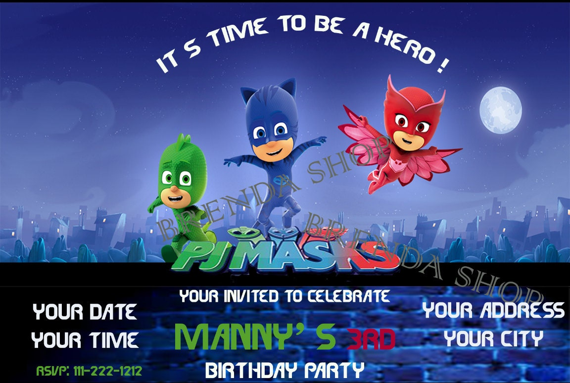 Pj Party Invites for awesome invitation layout