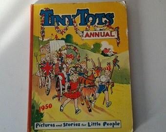 Tiny Tots Annual 1950 / Antique Children's Book