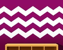 Chevron Wall Decal - Chevron Wall Decor - Bedroom, Playroom, Nursery Wall Decal - Tween Bedroom - Trendy Wall Decal - Stripes Wall Decal