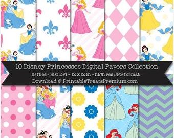 50% OFF SALE Disney Princesses Digital Paper Pack