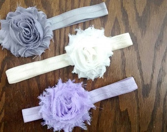 Single Shabby Flower Headbands