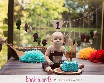 Gone Fishing Birthday set, outfit, fishing hat, banner, first birthday, birthday outfit, cake smash, photo prop, photography, fishing