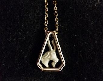 Aries - Silver Zodiac Vintage Necklace