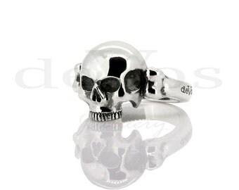 Skull Ring - Small Half Skull
