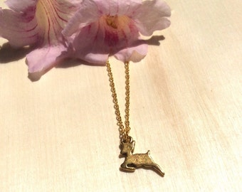 Gold Fawn necklace