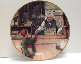 "1990 Rockwell Collector's Plate - ""Back to School"""