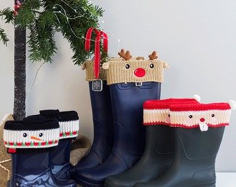 Personalised Christmas Boot Cuffs - Welly Socks - Personalised Welly Socks - Boot Socks - Personalised wellies - Personalised Boot Socks