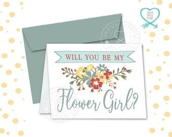 Bloom Flower Girl Card