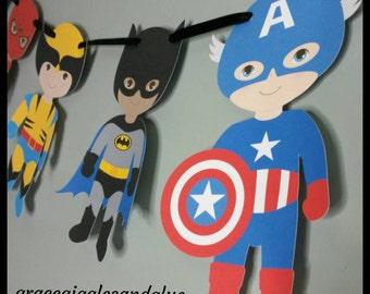 Superhero Inspired Banner, Superhero Garland,