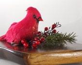Woodland Decor, Cardinal Decor, Woodland Decor, Cardinal Figurine