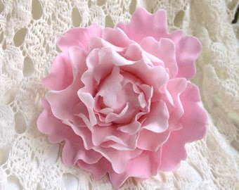 Petite Pink Peony Sugar Flower Gumpaste Cake Topper for Weddings, Bridal Showers, Birthdays, Baby Showers, Engagement Cakes