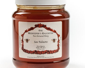 Raw Saw Palmetto Honey - 5 lb Jar