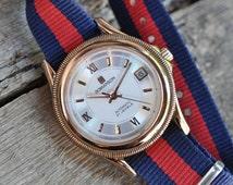 Vintage Men's Watch Romanson Swiss Made Automatic Sapphire