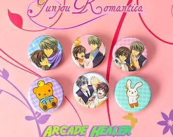 Junjo Junjou Romantica Pinback button Set!