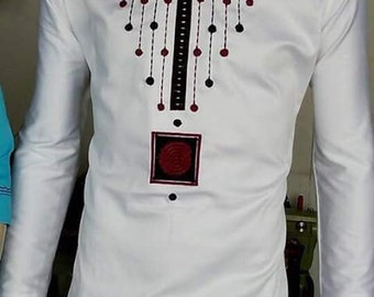 White polish cotton top with embroidery